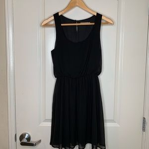 Lush Black Sheer Fully Lined Dress Size XS